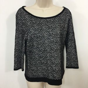 Anthropologie Moth boat neck speckled sweater M